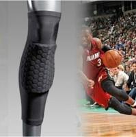 Hex Pad Extended Long Leg Sleeve 42CM Leggings Knee Protector Pad Kneepads Kneecap Football Basketball Knee Brace Cap Guard
