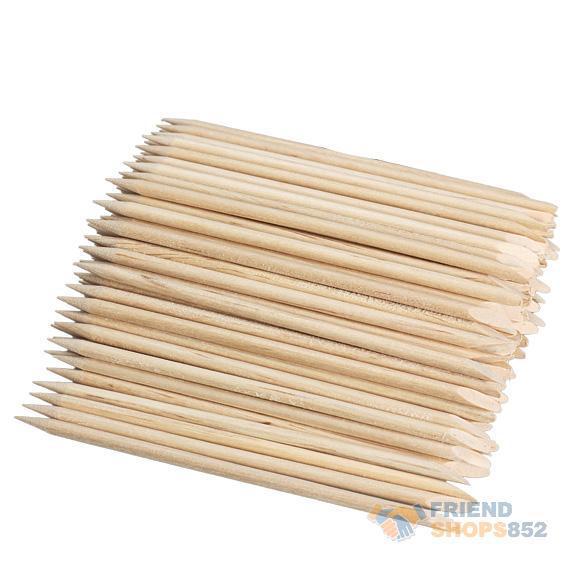 100pcs Nail Art Orange Wood Stick Cuticle Pusher Remover for ManicuresNIE#(China (Mainland))