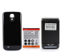 New Arrival Black Extended 5600mAh NFC Battery + Charger For Samsung Galaxy SIV S4 i9500 free shipping