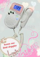 CE&FDA Factory direct  fetal doppler, pocket ultrasound fetal monitor, prenatal monitor,pink color