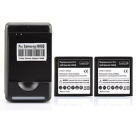 New Arrival 2x 1500mah Battery + Charger For Samsung i9000,GALAXY S,i9088,EPIC 4G,T959,Vibrant T959,Vibrant 4G,i897 captivate