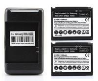 2x 1500mah Battery +Charger For Samsung T939,M850,Google Nexus S,i9020 Omnia 2 II I8000,i908e i899 i900 i908 i909 I910 i6500