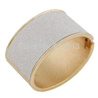 Free shipping Fashion 2014 hot-selling female gold polish punk wide Alloy metal wristband bangle jewelry