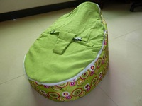 Free shipping Baby Toddler Kids Portable Bean Bag Seat / Snuggle Bed  , 2 in 1 baby seat, o beanbag chair color full green scire