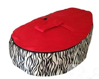 Free shipping Baby Toddler Kids Portable Bean Bag Seat / Snuggle Bed  , 2 in 1 baby seat, o beanbag chair red zaba