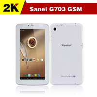 """Free Shipping 7"""" inch Sanei G703 2G Phone Call Tablet pc GSM Dual Cameras WiFi Android 4.2 512M / 8GB Allwinner A13 2G tablet"""