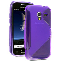 For samsung galaxy Ace 2 i8160 phone case,S line Wave Clear Soft TPU Protective Shell Skin Cover Case + free gift