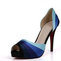 Woman Open Toe Pumps Platform Heel Shoes Big Size Pumps
