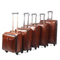 Paul trolley luggage vintage luggage bag travel bag leather the box