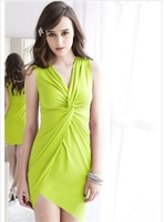 2a118897 volvulus sexy asymmetrical sweep vest one-piece dress