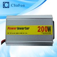 200W Watt Portable Car Automotive Power Inverter Charger Converter  DC 12V to AC 110V~220V FREE SHIPPING