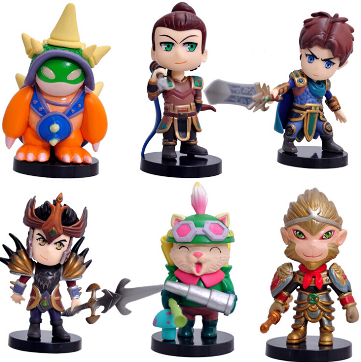 6pcs/Lot 100% New LOL PVC Mini Action Figure Game Toys Dolls New in box Free Shipping(China (Mainland))