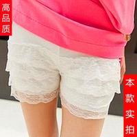 Women's shorts female legging 4 thin lace decoration punk women legging women's clothing X10