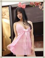 Free shipping wholesale sexy lingerie set woman sleepwear poplin plus size nightwear set