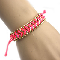 Colorful Candy Colored Fluorescent Hand-woven Bracelets Wholesale