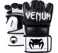 "Venum ""Undisputed"" MMA Gloves - Black - Nappa Leather"