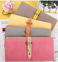 free shipping new arrival zipper & hasp solid cheap colors women's wallet school fashion 3 styles