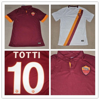 3A+++Top Thailand Quality 2015 Italy ROMA Home Soccer Jersey New season 14/15 Francesco Totti #10 Red Football Shirt Free ship