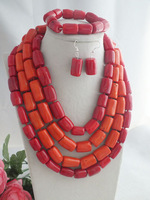 Free Shipping! 2014 Newest Design, Party Necklace Coral Jewelry Set, African wedding jewelry MN-2190