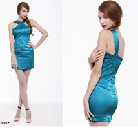 Counterchange 2a118962 bandage pressure pleated sexy tube top slim hip one-piece dress formal dress