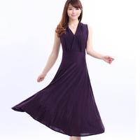 Free shipping 2014 fashion casual plus size 3xl dresses women's V-neck long design slim bohemia vestidos summer dress