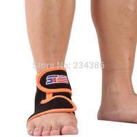 Free Shipping SX660-O Sports Basketball Elastic Ankle Foot Brace Support - Orange Black