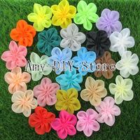 Free shipping! NEW 100% handmade DIY Single Flowers,baby girls Hair Accessories, flowers for kids headband headwear 78pcs/lot