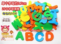 (100pcs/bag )26 English Letter pattern Child handmade DIY material EVA foam style patch wall stickers