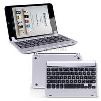 Ultra-Slim Aluminum Wireless Bluetooth Keyboard Smart Cover Case For iPad Mini