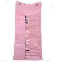 Professional Wool Cosmetic Makeup Brushes - Pink (23 PCS)