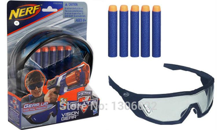 elite serie nerf dardos bala batalla + equipado con gafas, pistola de ...