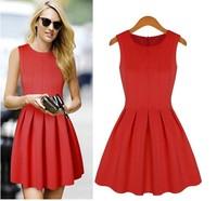 Am6311 fashion slim fashion slim waist vest one-piece dress