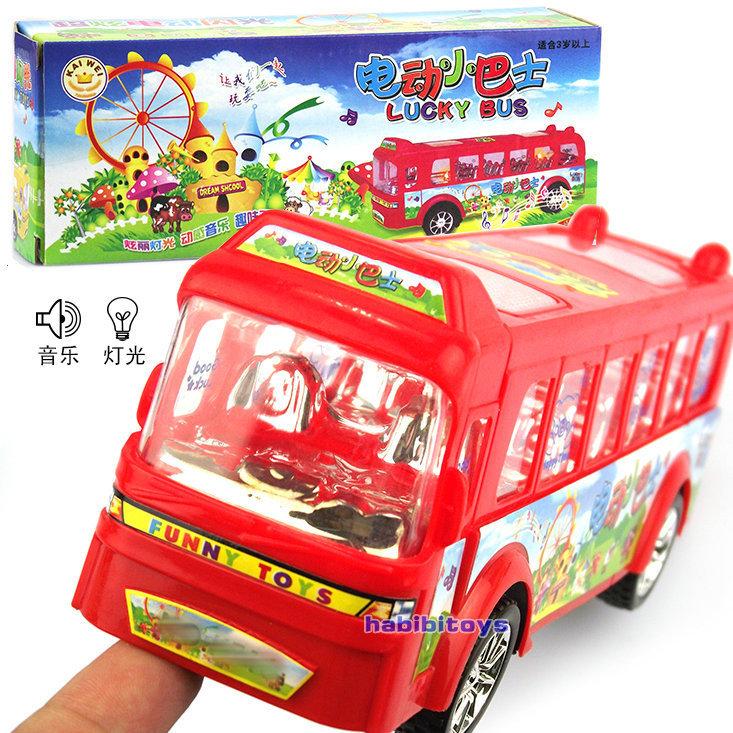 1 peça único modelo brinquedos elétricos luz ônibus elétrico música crianças presente engraçado grátis frete CL02104(China (Mainland))
