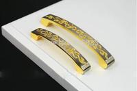 10pcs Solid Embedded Golden Modern Shake Handshandle of Carve Patterns or Designs on woodwork Decorative Drawer Knobs