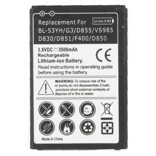 3000mAh Replacement Mobile Phone Battery for LG G3 D855 VS985 D830 D851 F400 D850 Rechargeable Batteria
