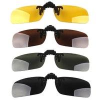 2014 New Lenses Polarized Flip Up Myopia Sunglasses Clip UV400 Day Night Vision Driving Glasses For Men Women 4 Colors 3 Sizes