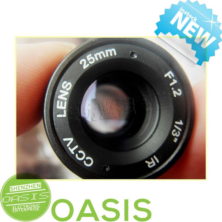 25mm Monofocal Fixed Iris CS Mount IR CCTV Security Camera Lens for CCTV Security Cameras network IP bullet camera(China (Mainland))