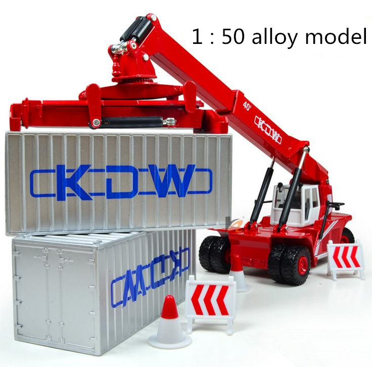 Free shipping ! 1 : 50 alloy slide car toy models construction vehicles ,Container front lifting Cars model,Children's favorite(China (Mainland))
