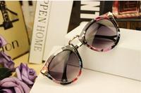 Hot Sale Women's Sunglasses Arrow Style Metal Frame Round Sonnenbrille 4 Colors Brand Designer Vintage Trend Sunglasses