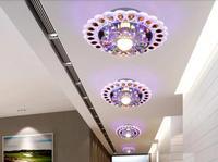 3w modern brief led crystal ceiling light bedroom lighting AC200-240V hallway lighting Led lamps lustres home decoration abajur