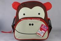 Fashion New animal school bag /children school bag/ cartoon bag school bag Bee frog elephant monkey zebra owl fox puppy 10pc/lot