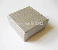 Custom Silver Gray Jewelry Box. Wholesale Jewel Case Gift Boxes. Free Printing Logo. Min. Order 500pcs  ID: SFJB12