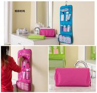 2014 New Cosmetic Bag in Bag Men's Travel Storage Bags Accessories Organizer makeup Organizador portable hanging Canvas