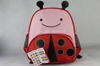 Hot Sale Cute Cartoon Baby Bag Children's Fashion Backpacks Cute Kids Backpack Eagle Monkey Zoo Animal Canvas School bag 30pcs