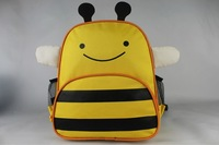 Hot Selling Children School Bag Cartoon Animal Canvas Backpack Baby Toddler Kids Shoulder Kindergarten School bag 20pcs/lot