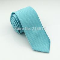 Slim Ties Skinny Tie Men's necktie Polyester plaid fashion neckties light blue colors