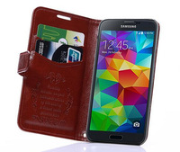 Luxury Top Quality With Stand Flip Leather Wallet Case For Samsung Galaxy S4 mini S5 mini Free Shipping
