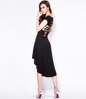2014 Hot Sexy Dresses Irregular Hollow Halter dress Evening dress Nightclub Upscale dress Free Shipping