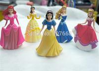 10 sets Princess Dolls Snow White Cinderella Aurora Ariel Belle PVC Action Figures Toys Christmas Gifts Girls Toys 5pcs/set