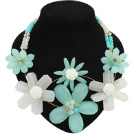 Min Order $10,New 2014 Vintage Fashion Statement Necklaces for Women,Exaggerated big flowers collar necklaces,N52